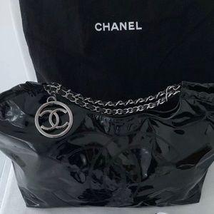 Chanel XL Coco Cabas Vinyl Dual Chain w/ Pouch